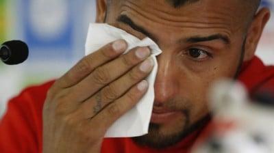 Vidal llorando