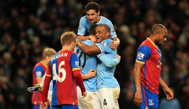 Manchester City logró otra ajustada victoria frente al modesto Crystal Palace