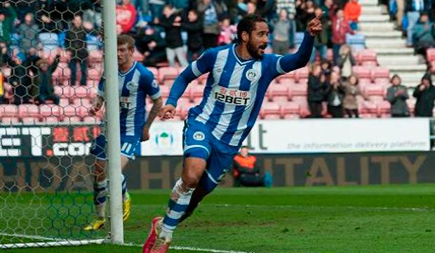 Beausejour anotó un gol en victoria del Wigan Athletic