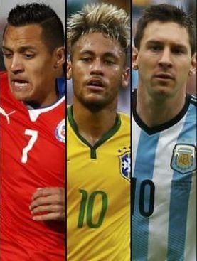El podio: Brasil, Argentina y Chile