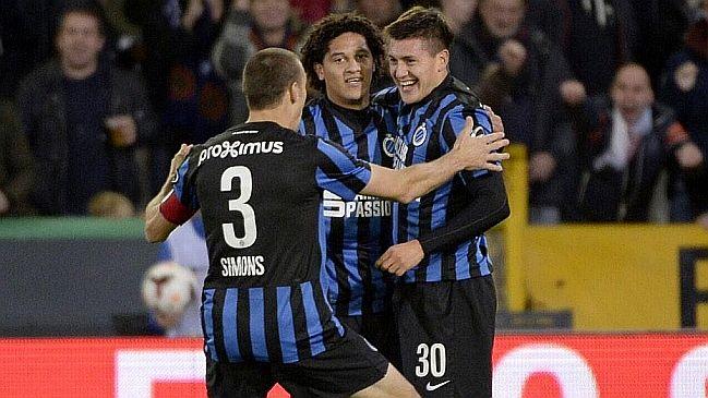"""Nicolás Castillo anotó un """"Hat-trick"""" en victoria de Club Brujas de la liga belga"""