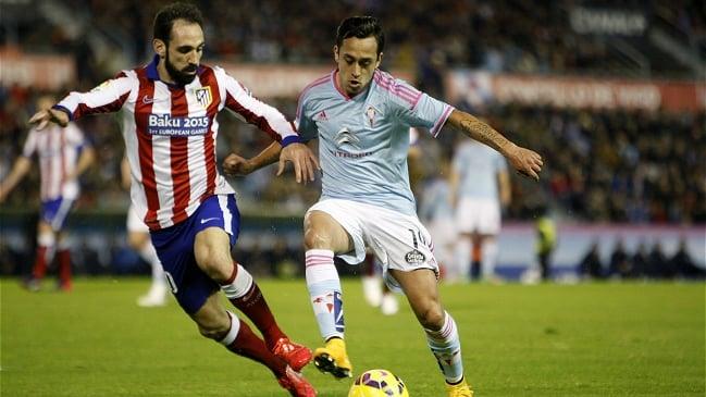 Fábian Orellana marcó en victoria sobre Atlético de Madrid