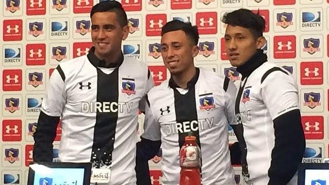Colo Colo presentó tres de sus nuevos refuerzos