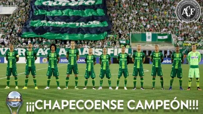Chapecoense es campeón de la Sudamericana