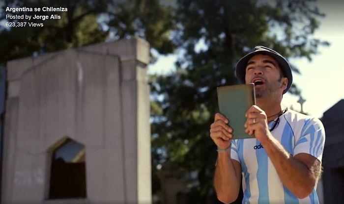 [Video] Jorge Alís calienta el partido entre Argentina y Chile con este video