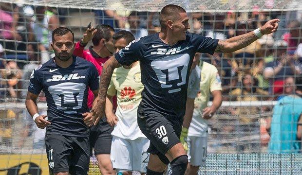 [Video] Nicolás Castillo marcó un doblete en la caída de Pumas ante las Aguilas