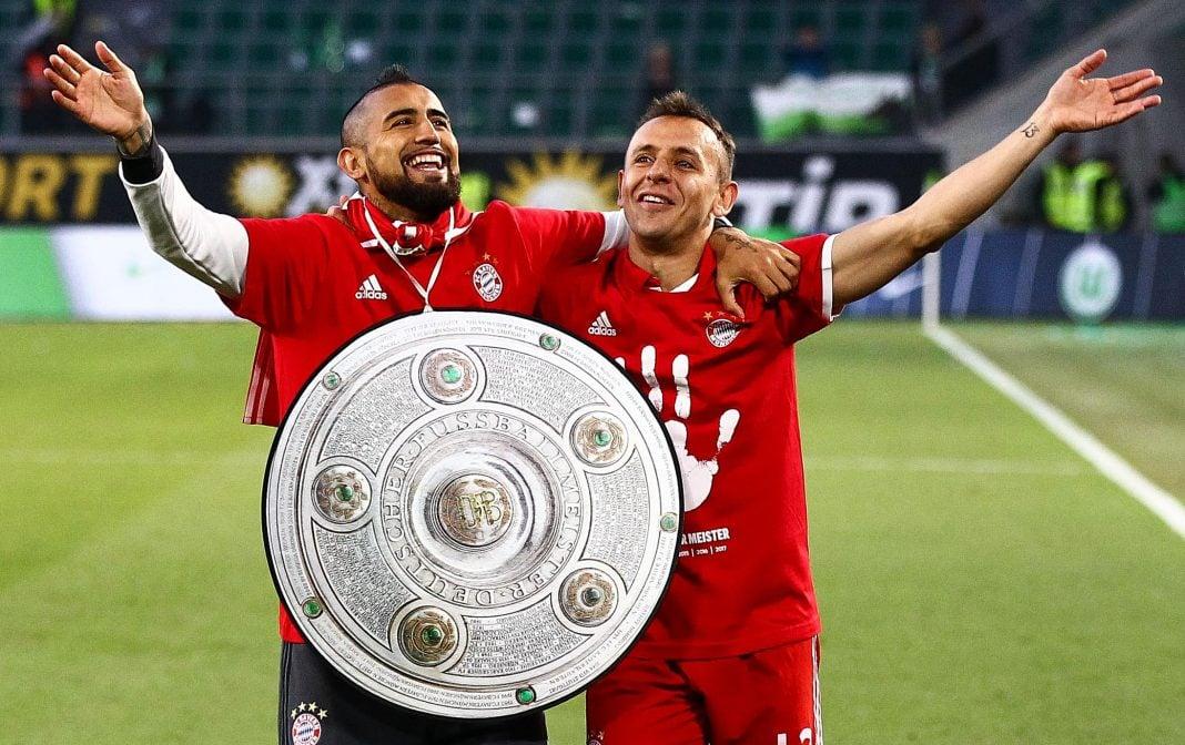 Arturo Vidal se coronó campeón con el Bayern Múnich de la Bundesliga