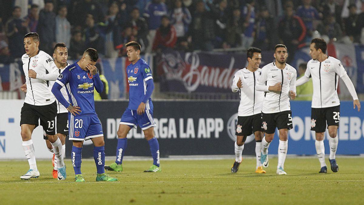 La 'U' volvió a perder con Corinthians y quedó eliminado de la Copa Sudamericana